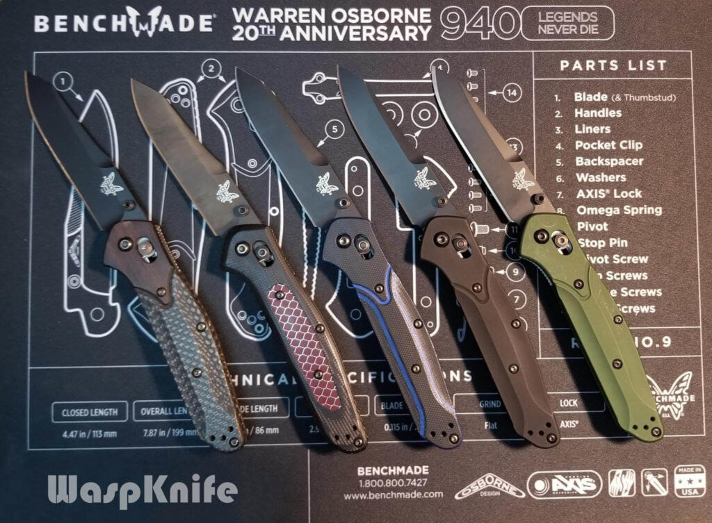 Benchmade 940 Sprint Runs And Exclusives